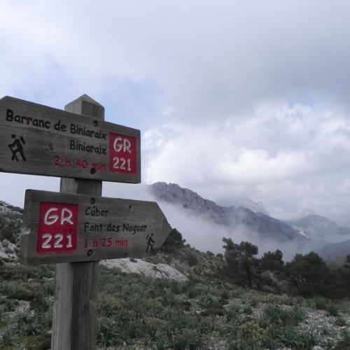 Guided walking in Mallorca - GR221 sign post