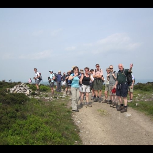 Guided walking group on Shropshire Hills